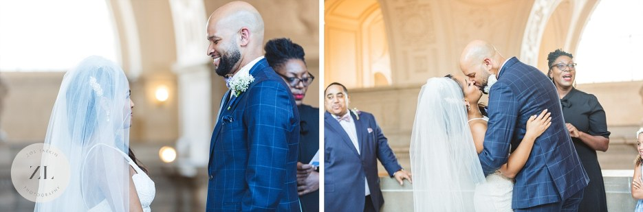 4th floor intimate ceremony at san francisco city hall
