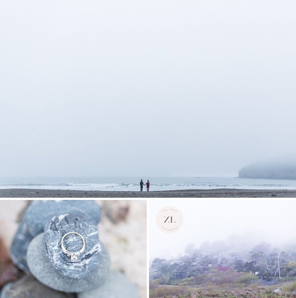 engagement details and tiny people photo muir beach engagement