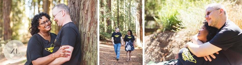 east bay redwood park roberts regional redwood wedding couple