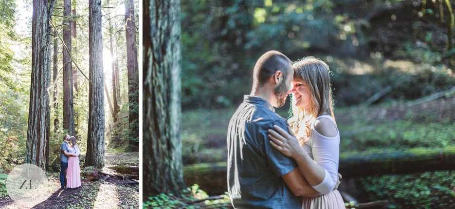 engagement photography in the redwoods