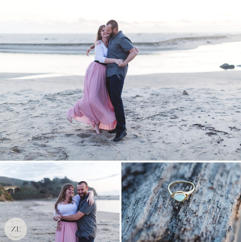 San Gregorio beach engagement photos located in northern CA | Zoe Larkin Photography