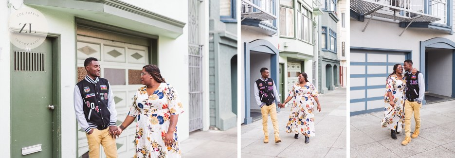 typical san francisco street engagement photos