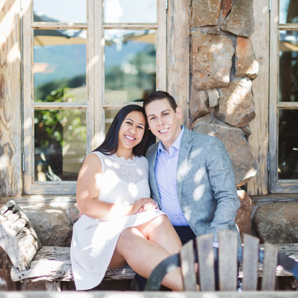 elegant wine country engagement california