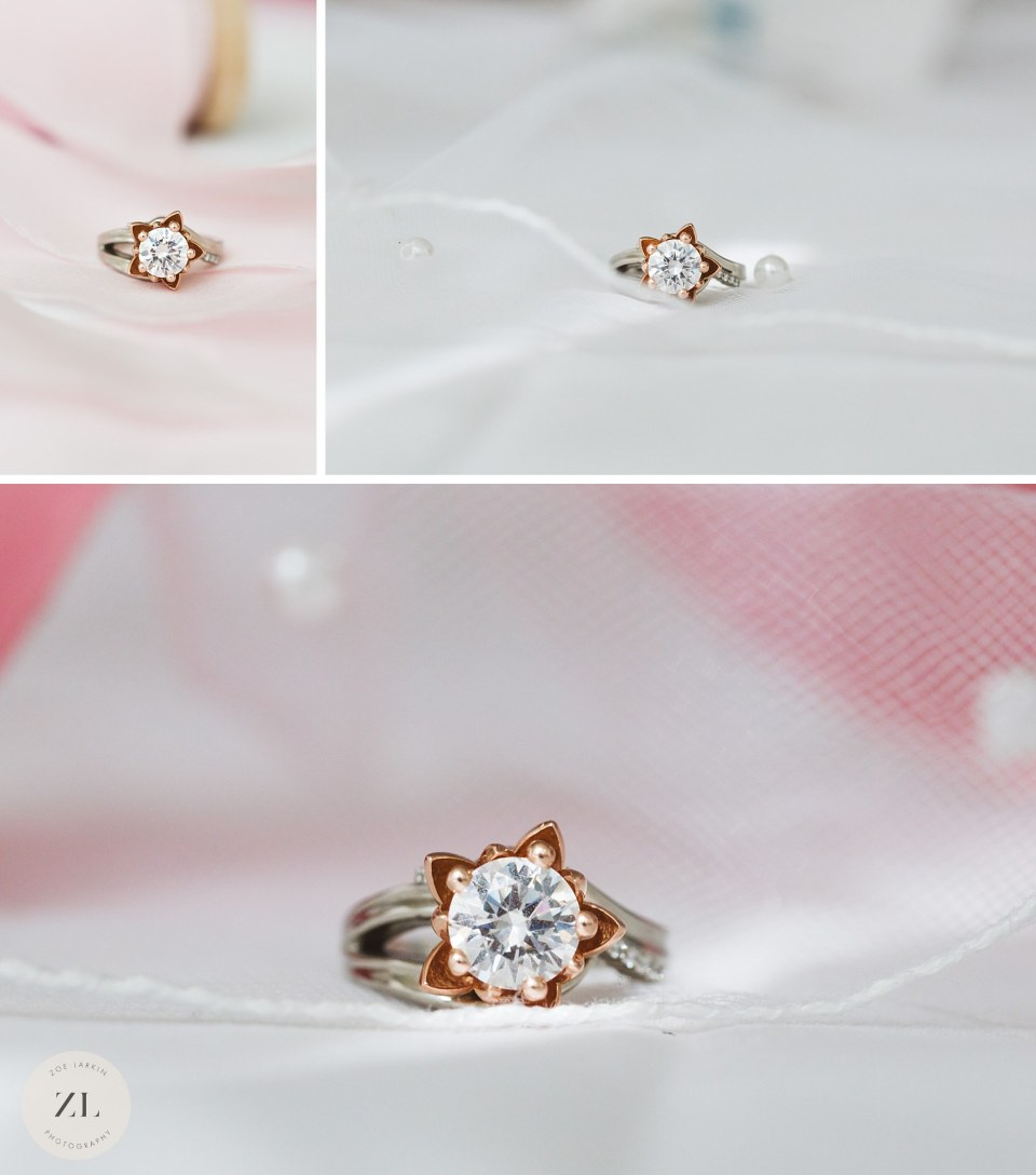 engagement ring made by custom made jewelry - Bay Area proposal photography | Zoe Larkin Photography