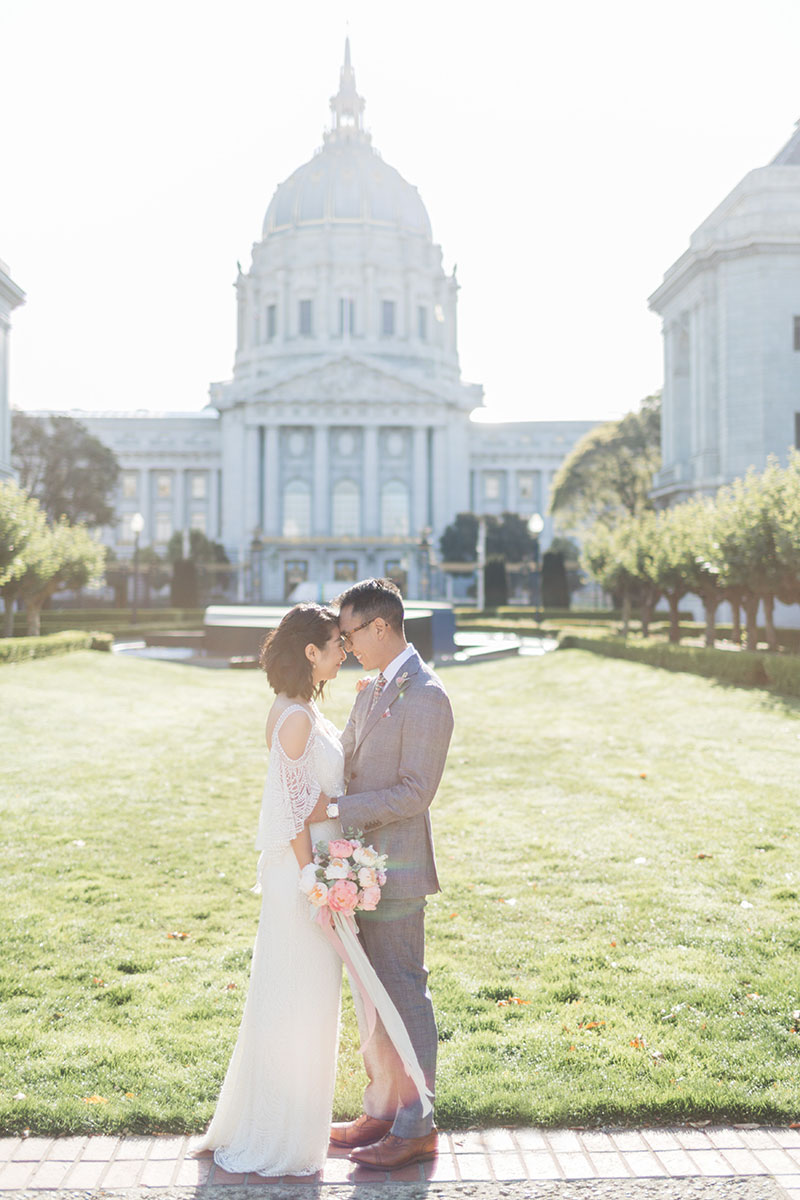 hipster city hall wedding photos san francisco
