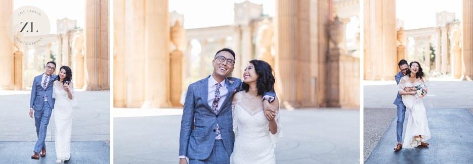 rotunda of palace of fine arts elegant wedding photography