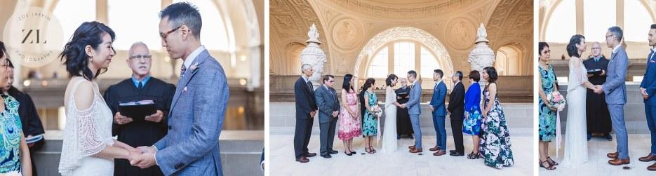 4th floor north gallery wedding ceremony san francisco city hall