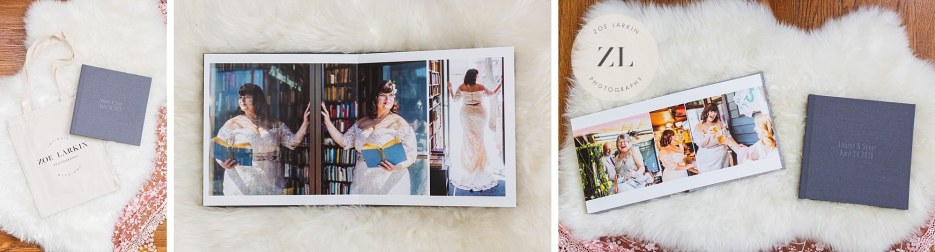 wedding album collage zoe larkin photography