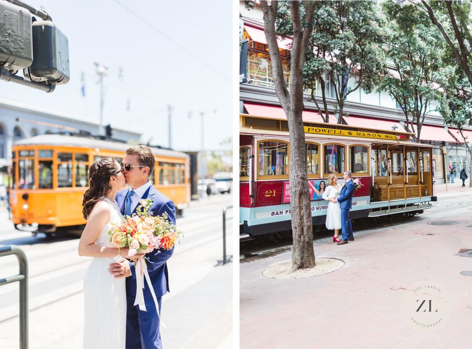 Examples of public transportation on your city hall wedding day to get around san francisco after getting married