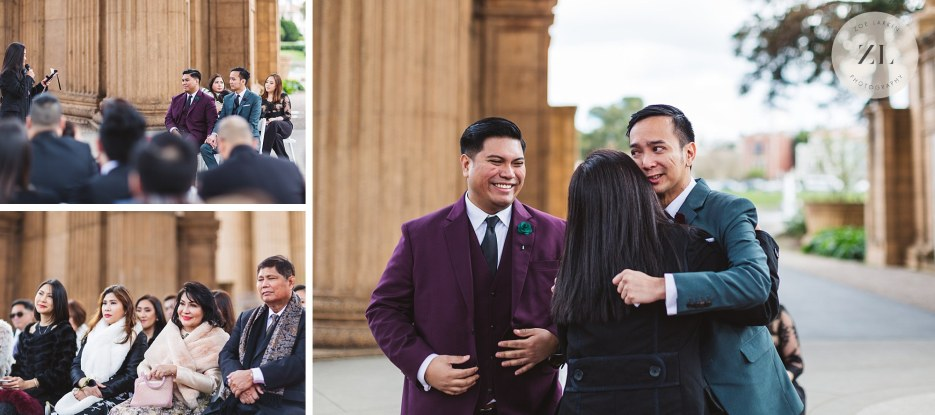 sweet ceremony moments at wedding with two grooms