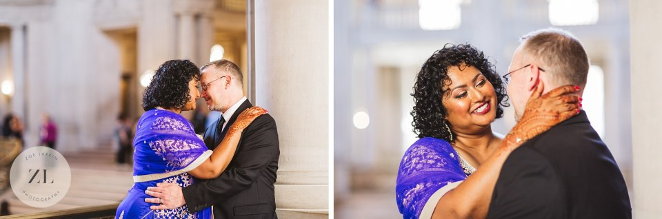 beautiful san francisco city hall wedding photography indian swirl couple