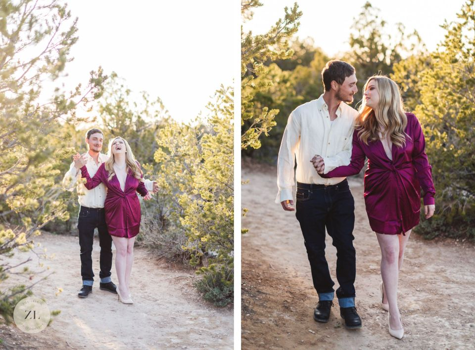 zoe larkin photography laughing and joyful adventure engagement photos