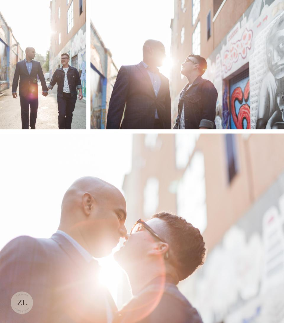 sunflare male trans couples pictures walking down clarion alley in the mission district