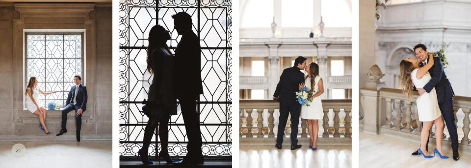 sweet and fun San Francisco City Hall wedding photography