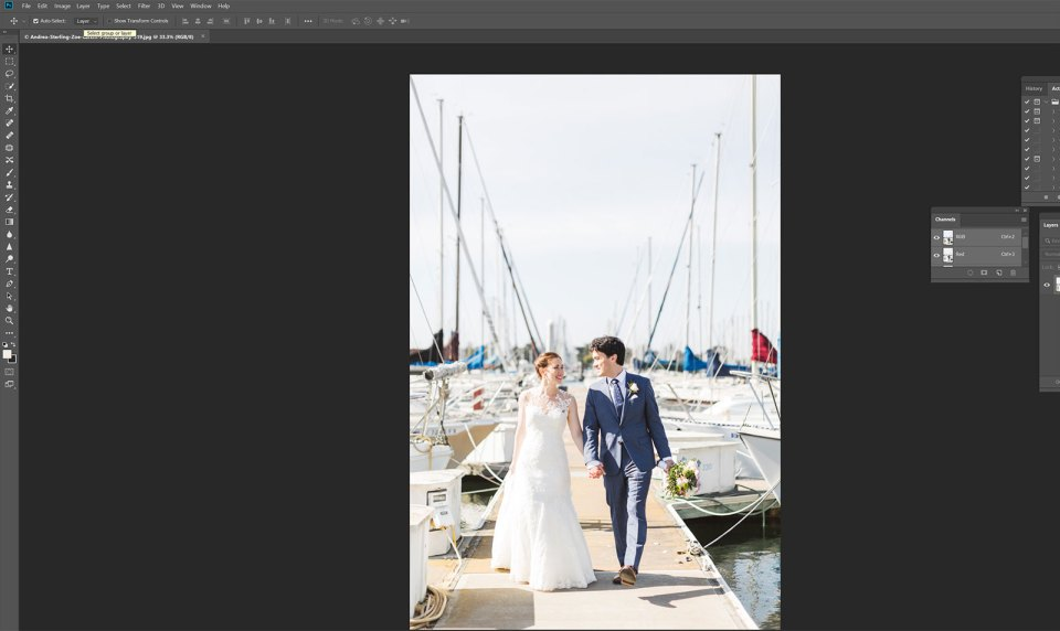 understanding how wedding photographers edit images