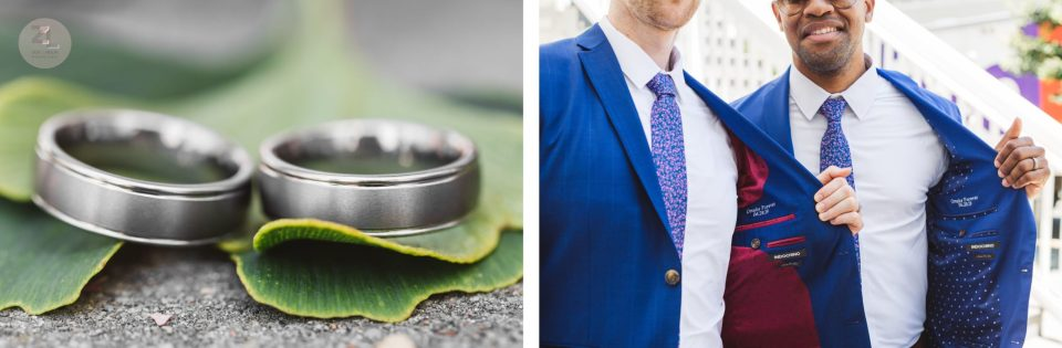 wedding details including wedding rings for castro district wedding photography