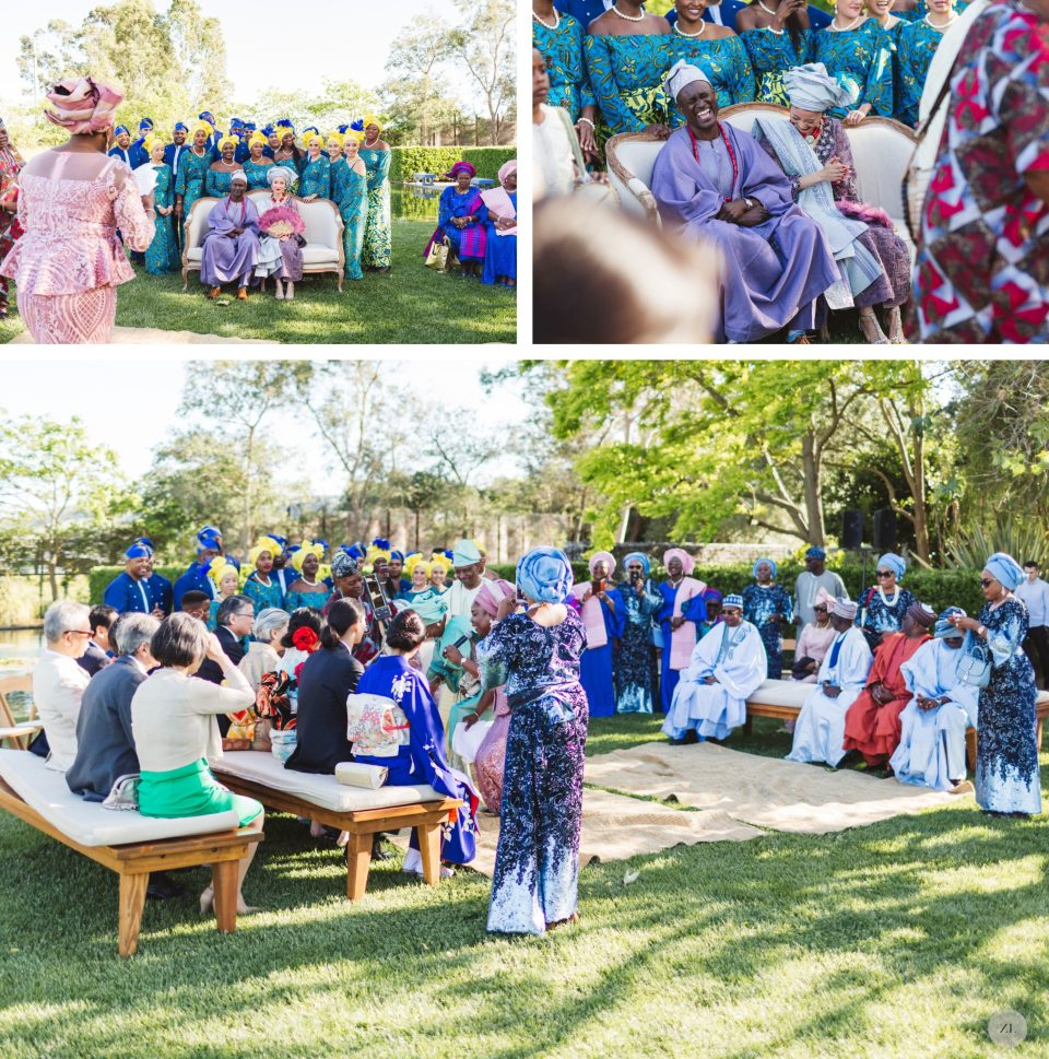 fusion cornerstone sonoma wedding - large ceremony at with japanese and nigerian touches