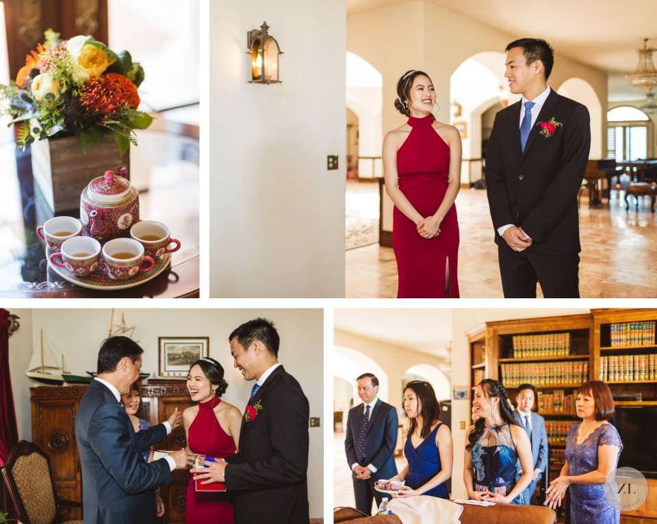 Tea Ceremony photos at Carmel wedding | Zoe Larkin Photography