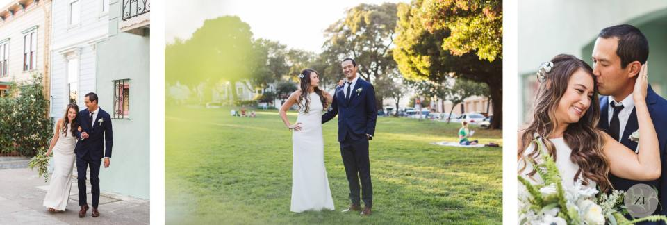 couples' wedding portraits in San Francisco - precita park, bernal heights