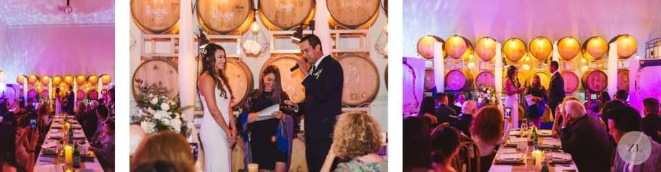 wedding ceremony photos at Eristavi Winery San Francisco Zoe Larkin Photography