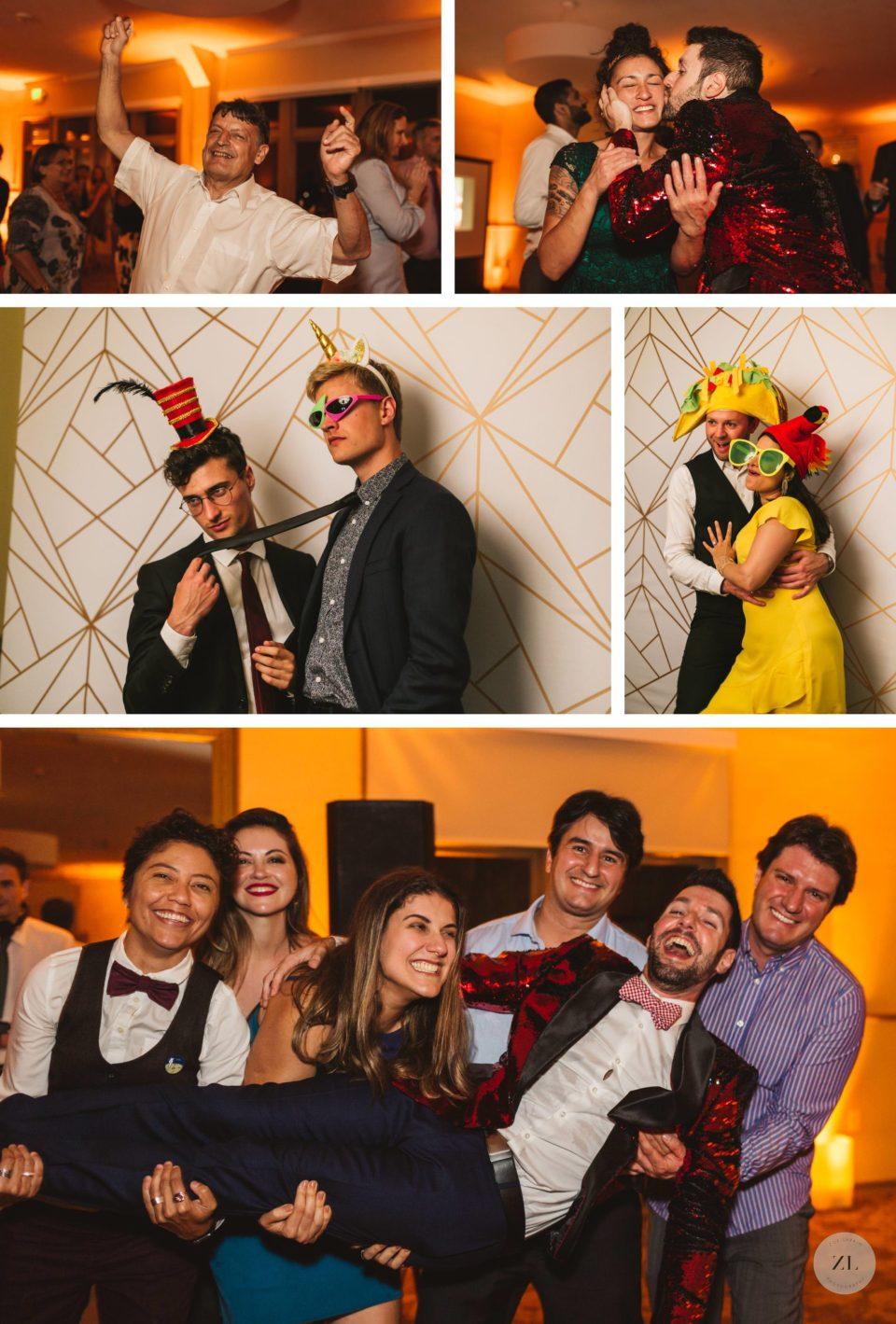 General's Residence at Fort Mason wedding photos - guests having fun