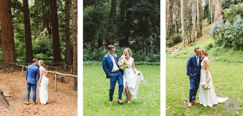 newlywed portraits at Stern Grove wedding by Zoe Larkin Photography