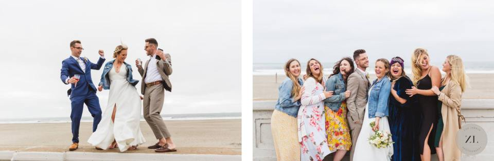 Ocean Beach wedding photos - Zoe Larkin Photography