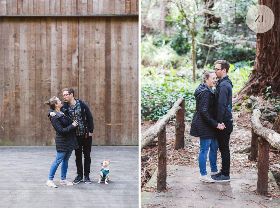 couple on Stern Grove engagement shoot by Zoe Larkin Photography