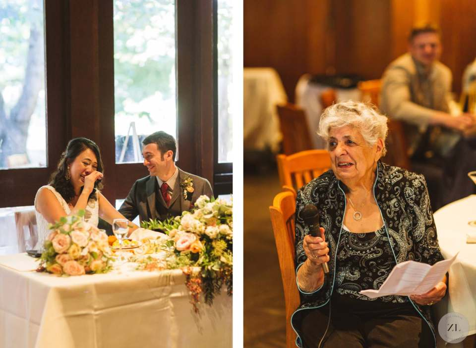 emotional speeches at Yosemite's Curry Village wedding reception