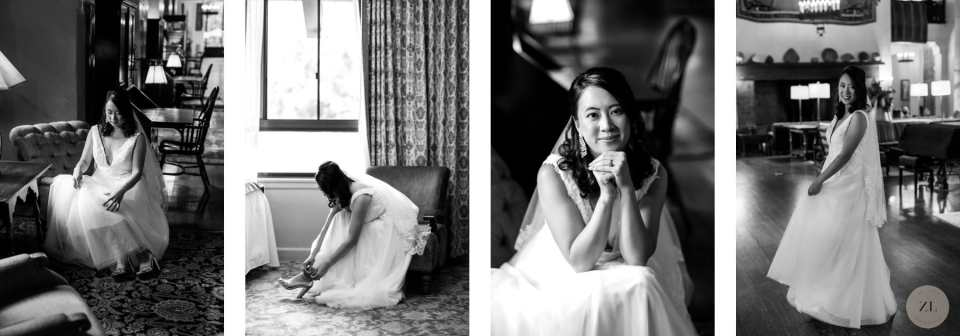 bride getting ready photos at Ahwahnee Hotel, Yosemite before wedding