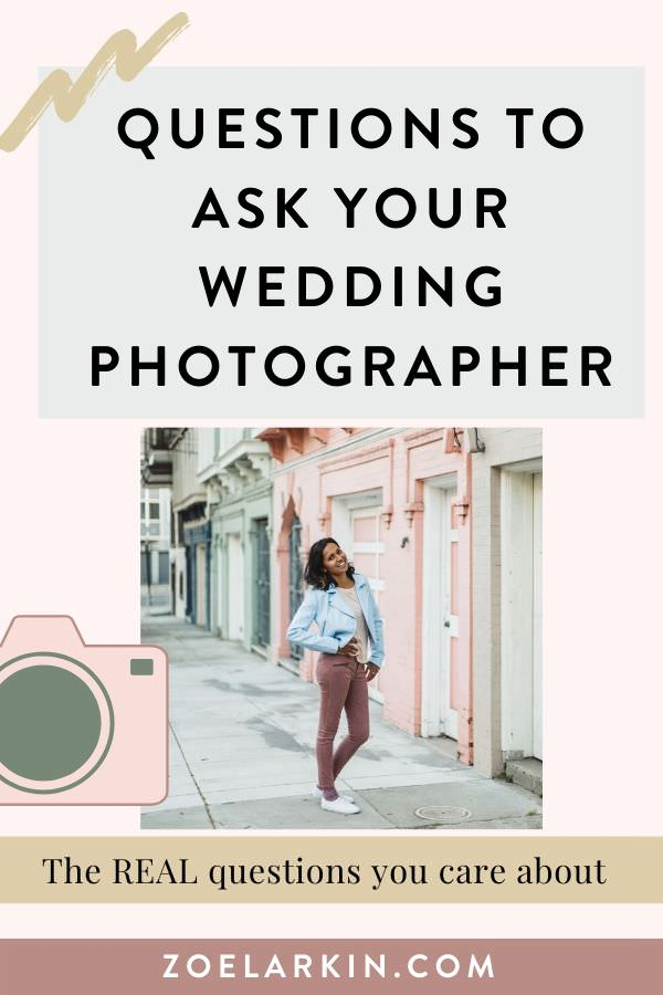 What do you really need to ask your wedding photographer? The answer may surprise you! There's no shortage of lists of questions to ask your wedding photographer, but very few written by actual wedding photographers! In this list I'll guide you through the process, and point out why it's helpful to know the answers to these questions. No wasting your time, just the essential questions to ask, so that you make the best wedding photographer decision. #weddingphotography | Zoe Larkin Photography