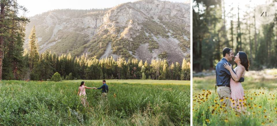 Yosemite Valley engagement session with Zoe Larkin Photography