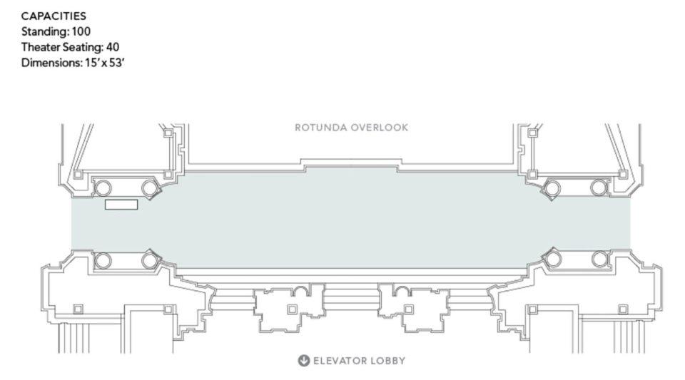 Floorplan of the Mayor's Balcony at SF City Hall