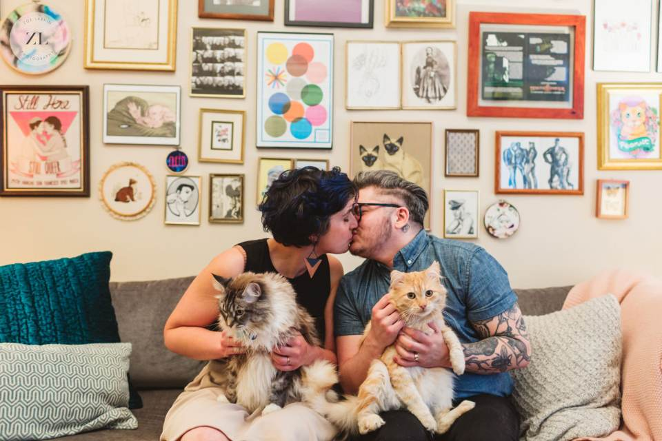 trans couple engagement shoot by non-lgbtq+ wedding photographer