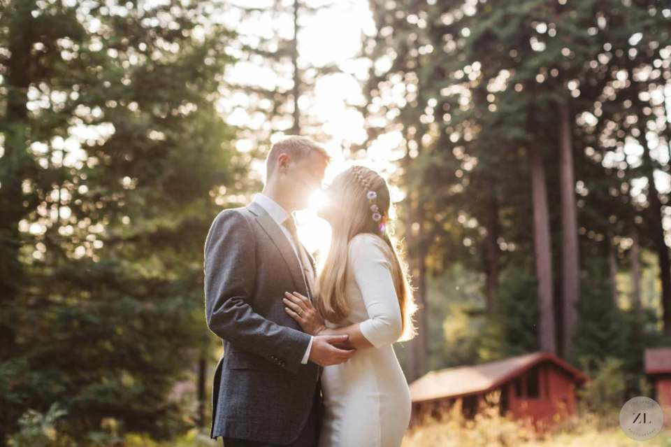 Camp Mendocino Wedding photo couple