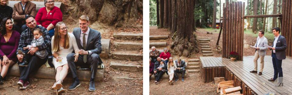 wedding speeches at Camp Mendocino Amphitheater