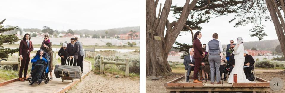 Candid Crissy Field Cypress Grove wedding photos by Zoe Larkin Photography