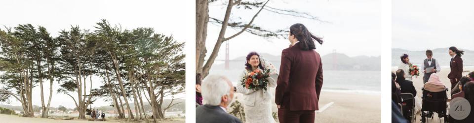 Crissy Field elopement wedding photos by Zoe Larkin Photography