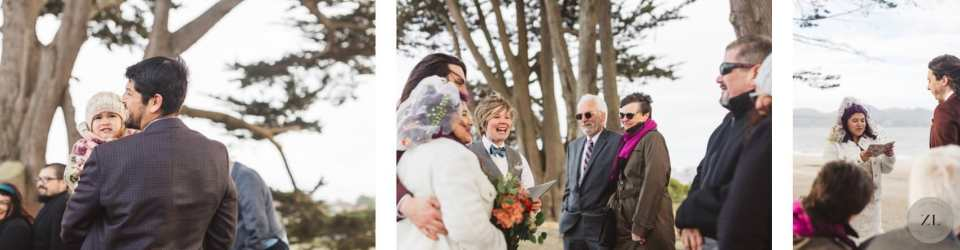 wedding ceremony in San Francisco conducted by Lauren Snead wedding officiant - by Zoe Larkin Photography