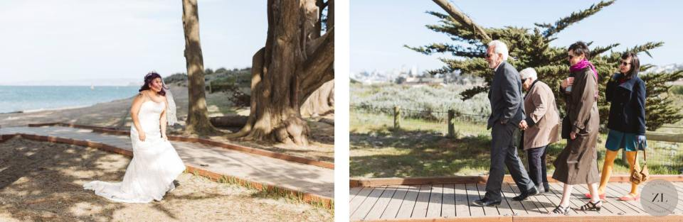 Crissy Field Cypress Grove elopement wedding candid photography