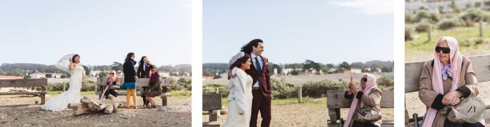 Crissy Field elopement wedding with a few guests