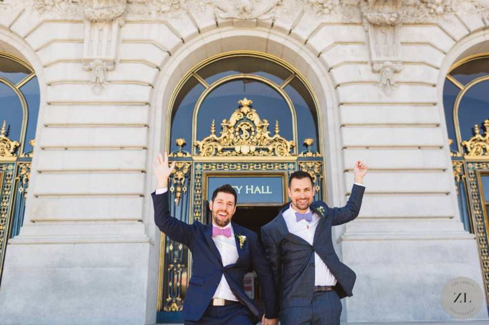 gay couple's saturday wedding - full buyout of san Francisco city hall