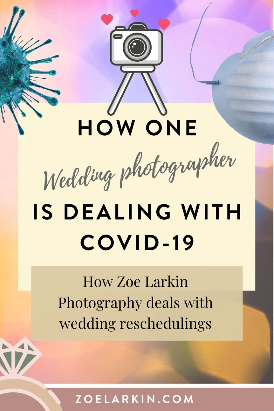 How one wedding photographer is dealing with wedding reschedules due to COVID-19. Zoe Larkin Photography is a Bay Area wedding photographer whose business has been impacted by COVID-19. In this article, I dive into how I help wedding couples who are deciding whether to cancel, postpone, or downsize their weddings. These are the policies that help support my couples during these difficult times. This is what works for my wedding business. #weddings #weddingvendors | Zoe Larkin Photography