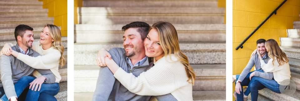 Couple's joyful san francisco engagement photographs