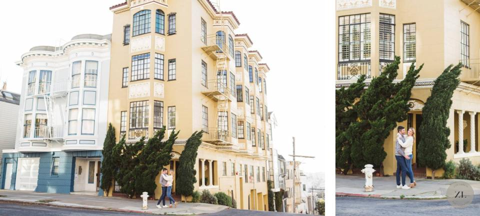 pacific heights engagement photoshoot - very hilly neighborhood