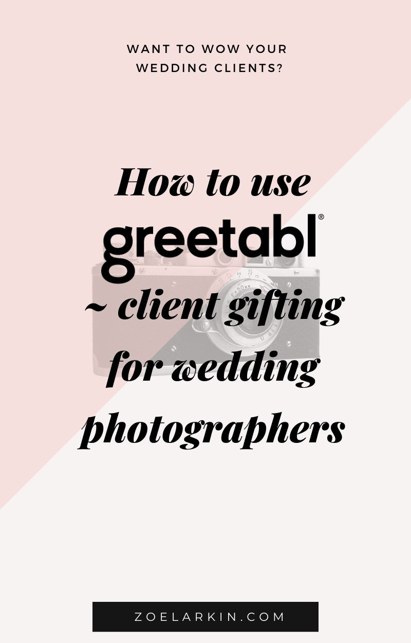 How to use GREETABL, client gifting service perfect for wedding photographers. Have you heard of the all-in-one easy and customizable gifting service, Greetabl? If you're looking to send a small gift in the mail, Greetabl's cute gifts start at only $10 then you choose your design, add a gift of your choice and personalize it with photos and messages. Enter your recipient's address and voila - joy will be shared! Get 20% off with my exclusive discount code! | #clientgifting | zoelarkin.com