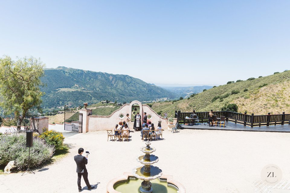 reasons in favor of hiring a professional wedding photographer - even for a small wedding like this carmel valley ceremony in Chateau Carmel