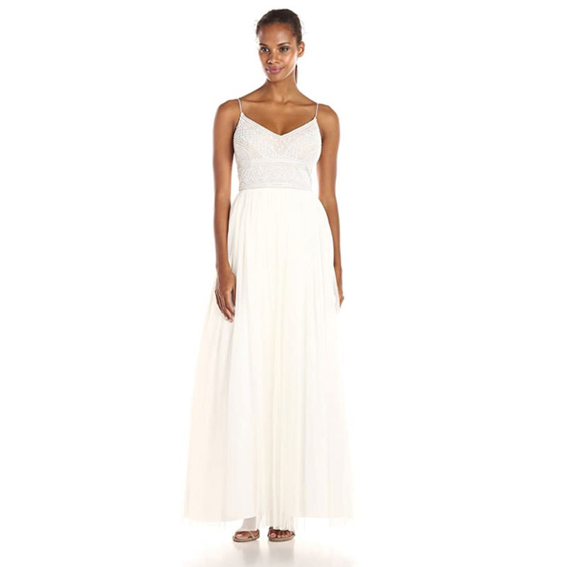 Adrianna Papell strap wedding dress