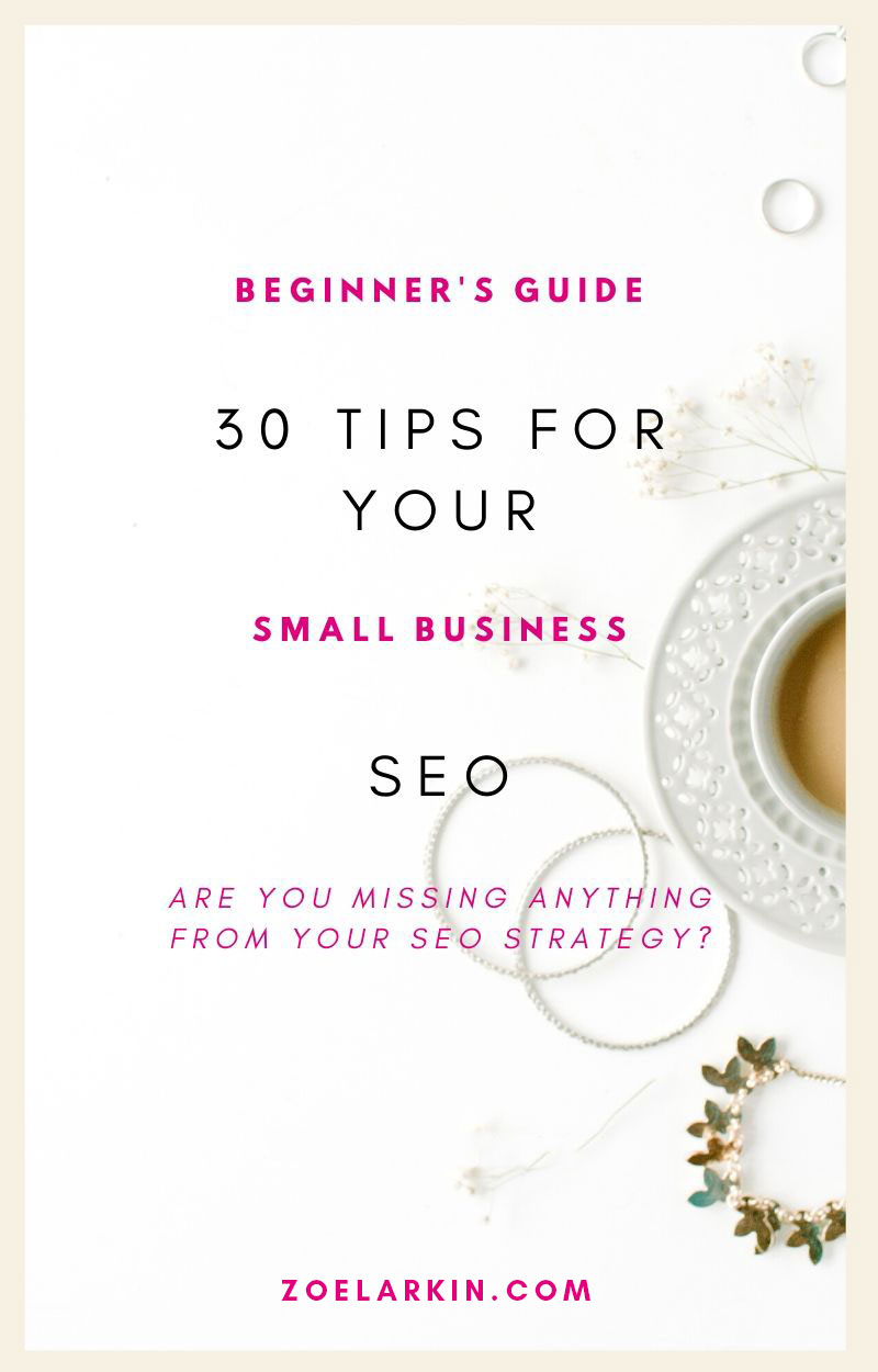 30 actionable tips for those starting out with local SEO! Understanding what can be a technical field is tough when you're learning the basics of DIY local SEO + how to reach local customers. The advice can feel overwhelming, you don't know where to begin! I'll give you only practical help here with my 30 local SEO tips so you can do your own SEO yourself. Gaining this understanding will save you thousands + also make you money as you reach more local customers! #seo #localseo | zoelarkin.com