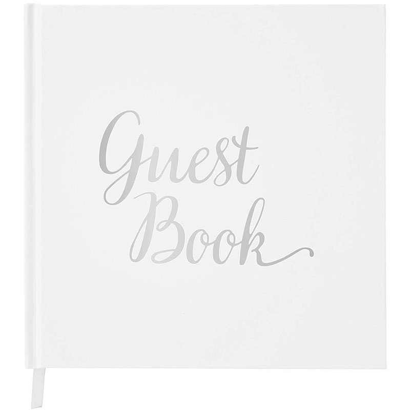 Minimalist guest book with foil stamping